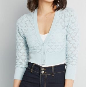 Modcloth Dream of the Crop Pointelle Crop Cardigan